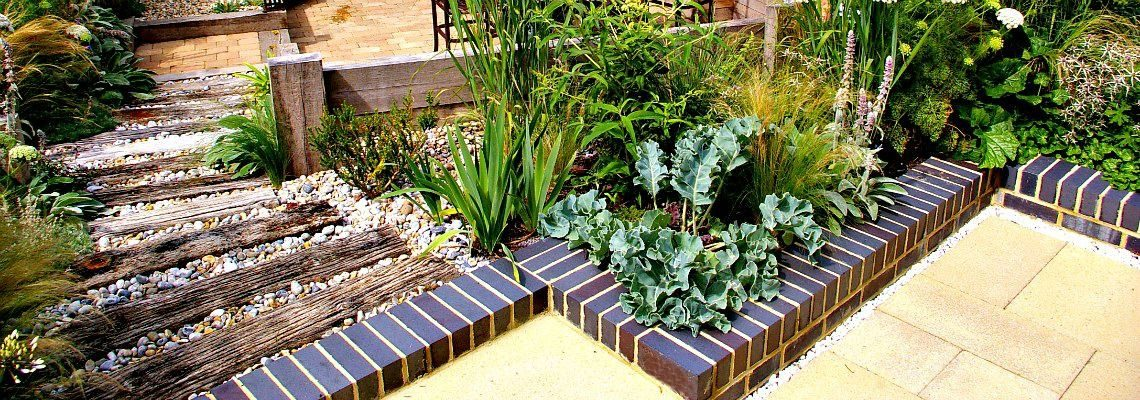 Coastal Greenery with Brick Display