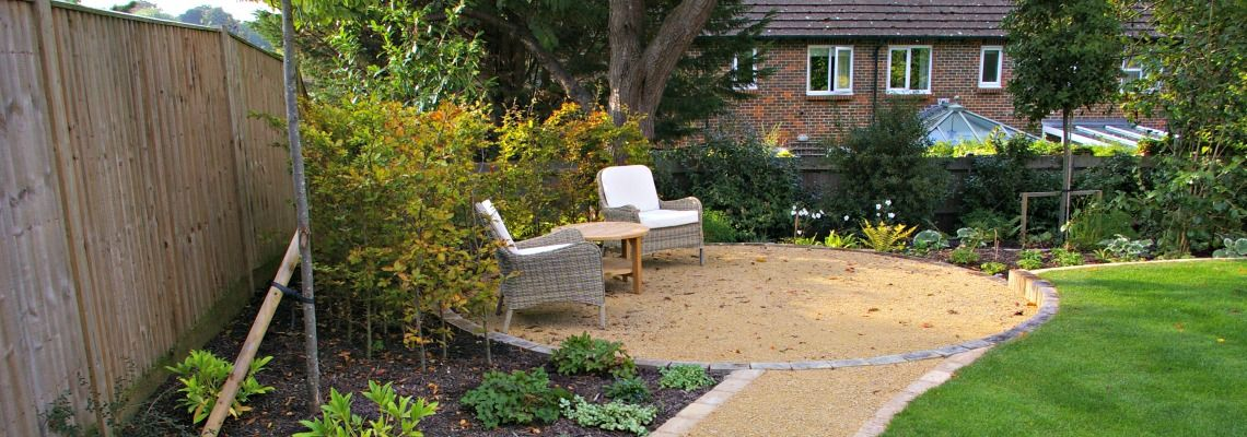 Country garden seating area