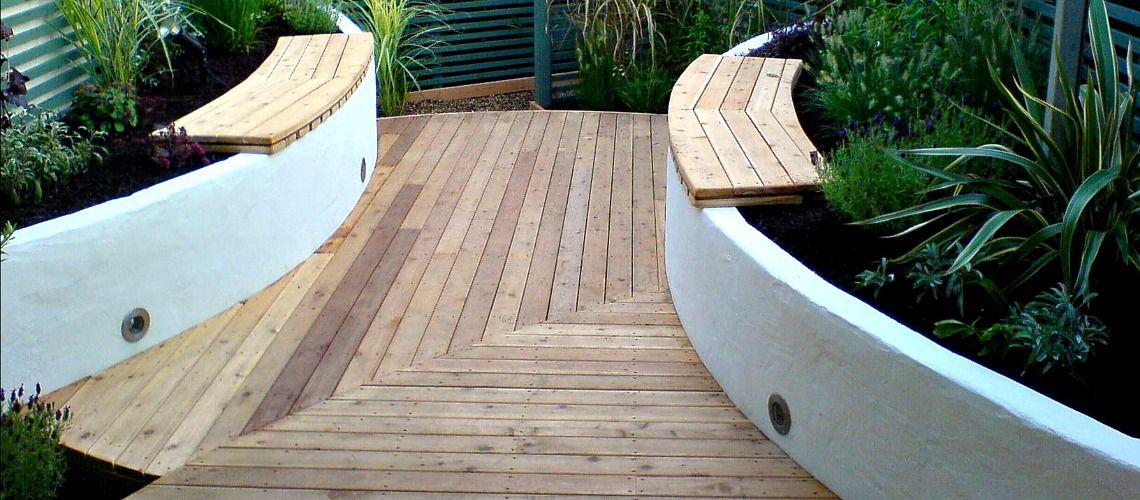 Sailing Theme Garden Design in Emsworth Path