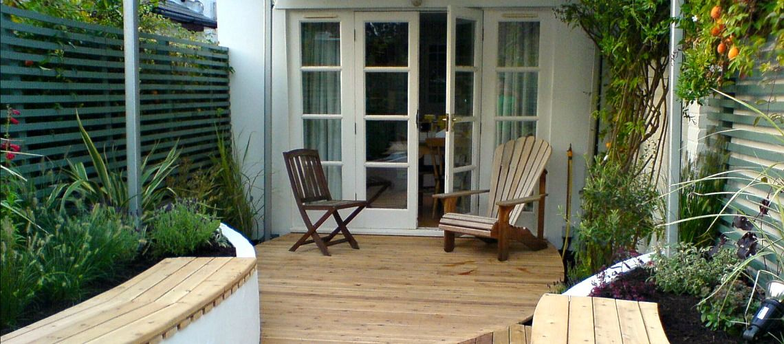 Sailing Theme Garden Design in Emsworth Deck